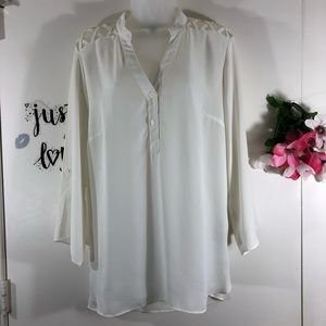 ALYX LATTICE DETAIL TOP CREAM SIZE XL